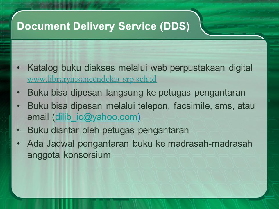 Document Delivery Service (DDS)
