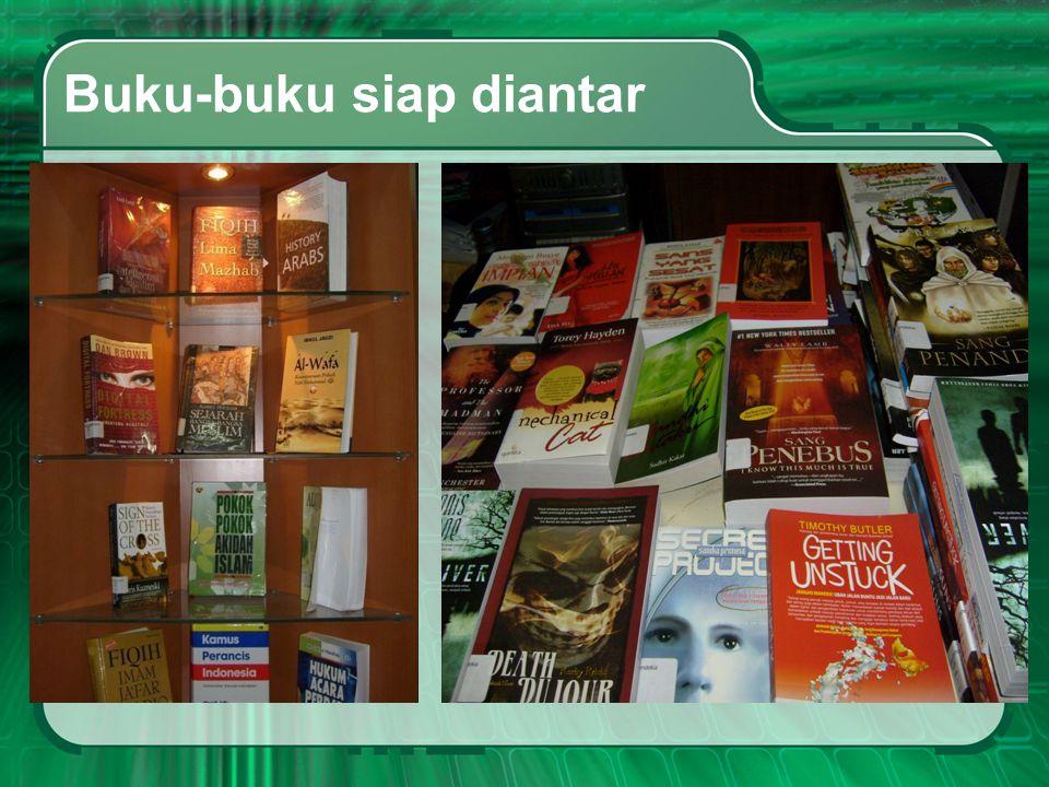 Buku-buku siap diantar