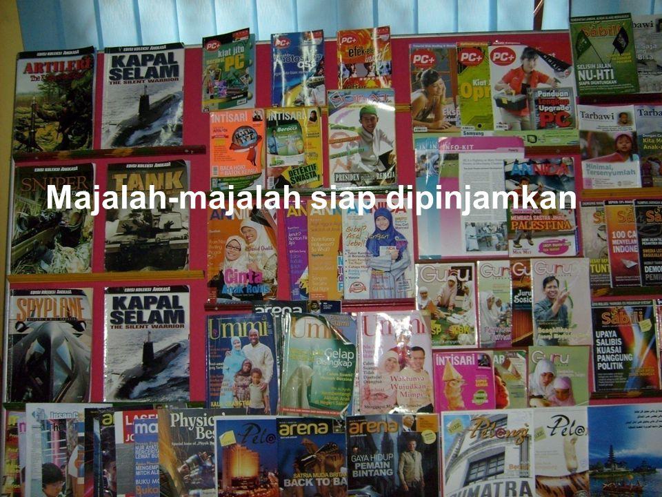 Majalah-majalah siap dipinjamkan