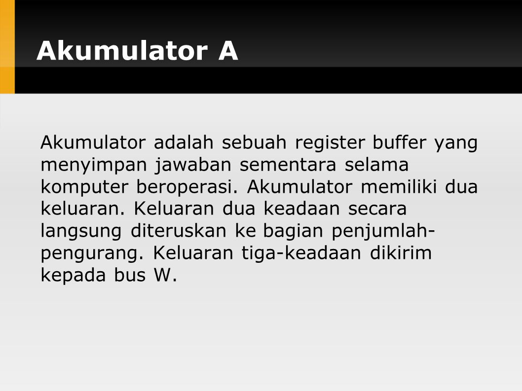 Akumulator A