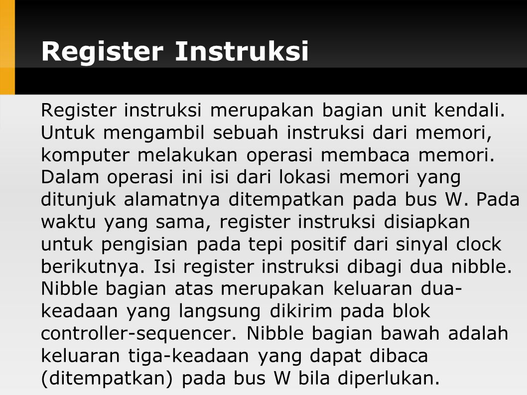 Register Instruksi