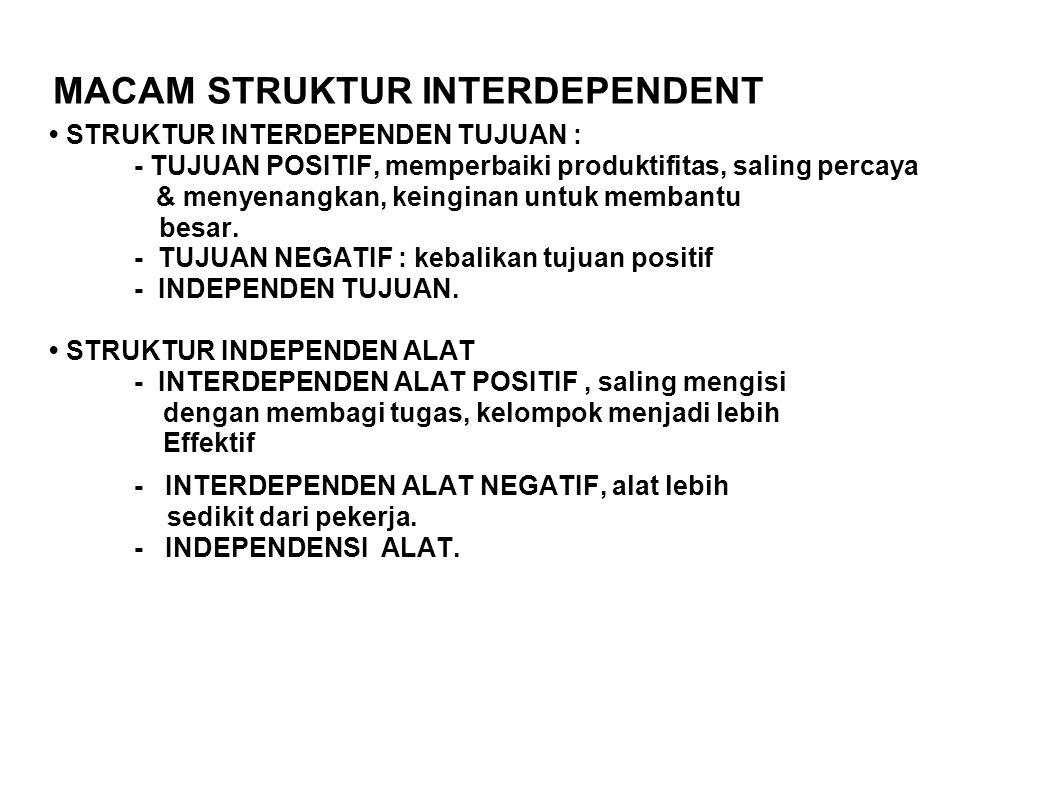 MACAM STRUKTUR INTERDEPENDENT