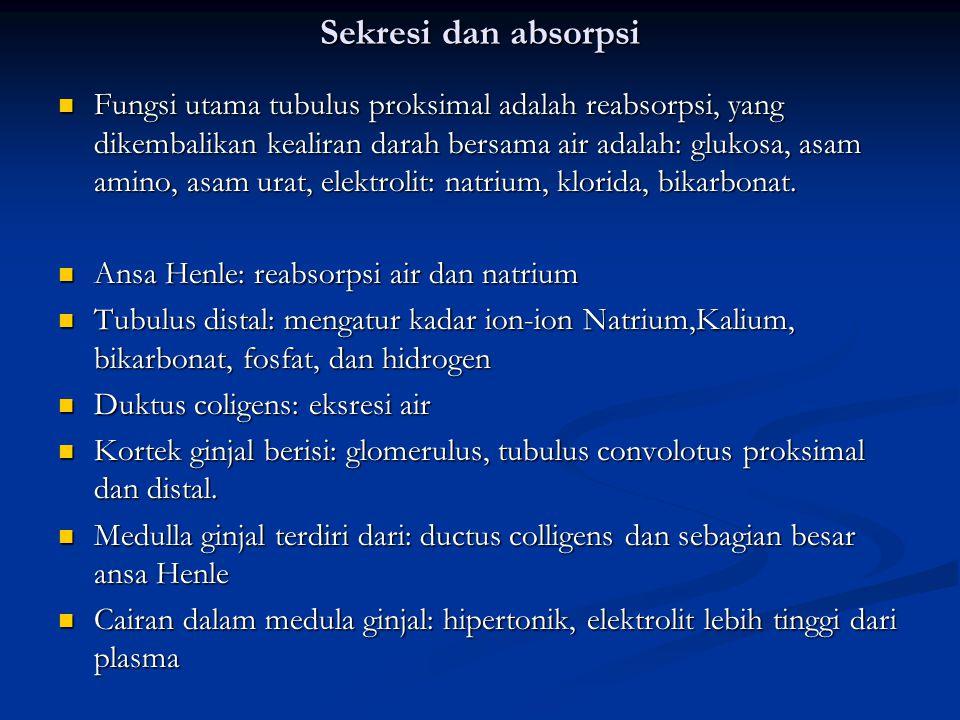Sekresi dan absorpsi