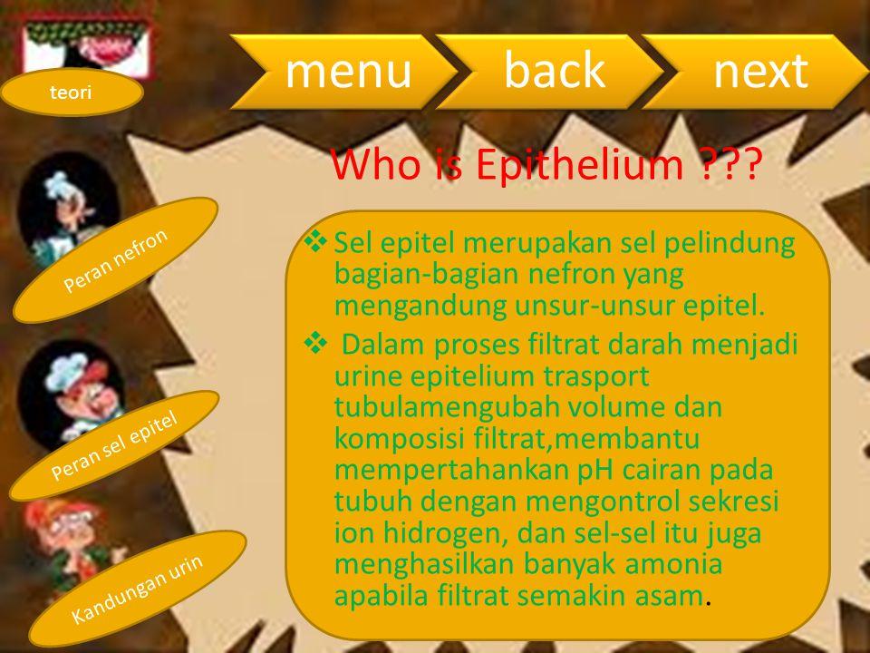 menu back. next. teori. Who is Epithelium Peran nefron.