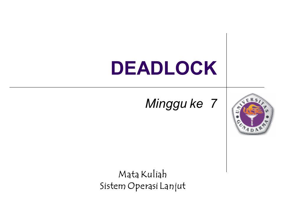 DEADLOCK Minggu ke 7