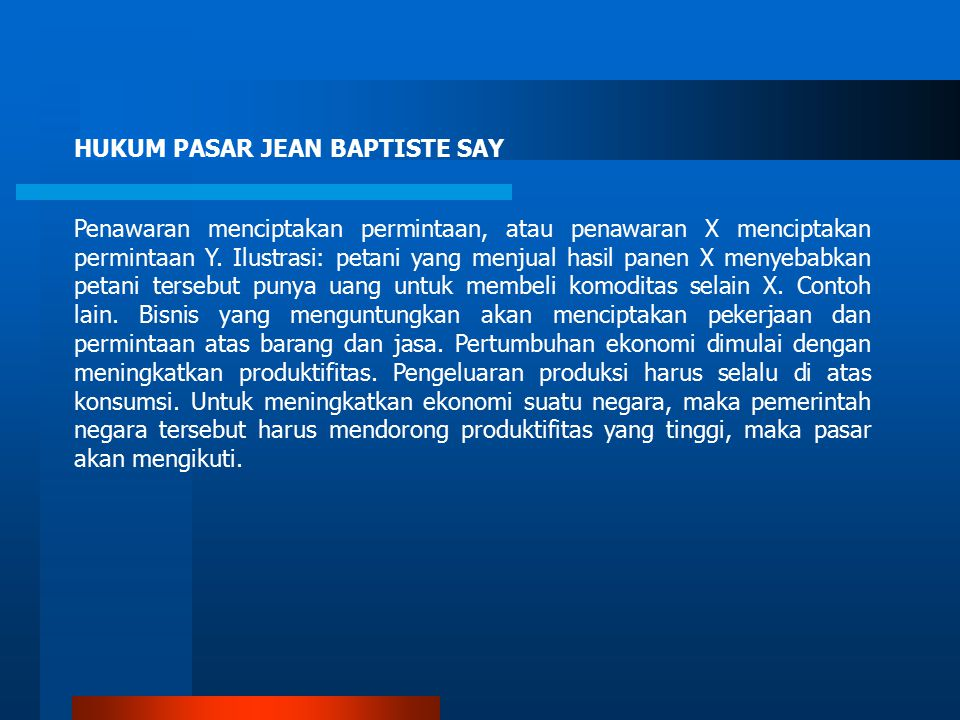 HUKUM PASAR JEAN BAPTISTE SAY