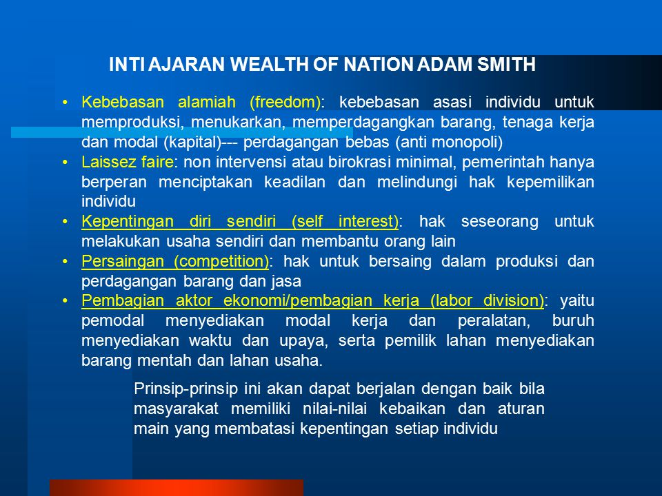 INTI AJARAN WEALTH OF NATION ADAM SMITH