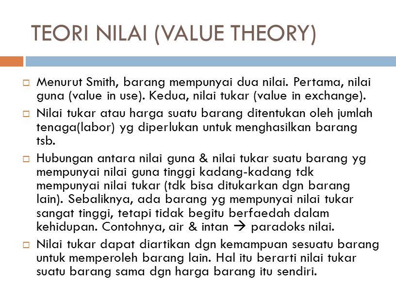 TEORI NILAI (VALUE THEORY)