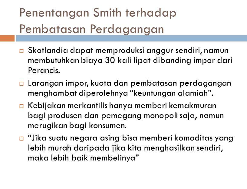 Penentangan Smith terhadap Pembatasan Perdagangan