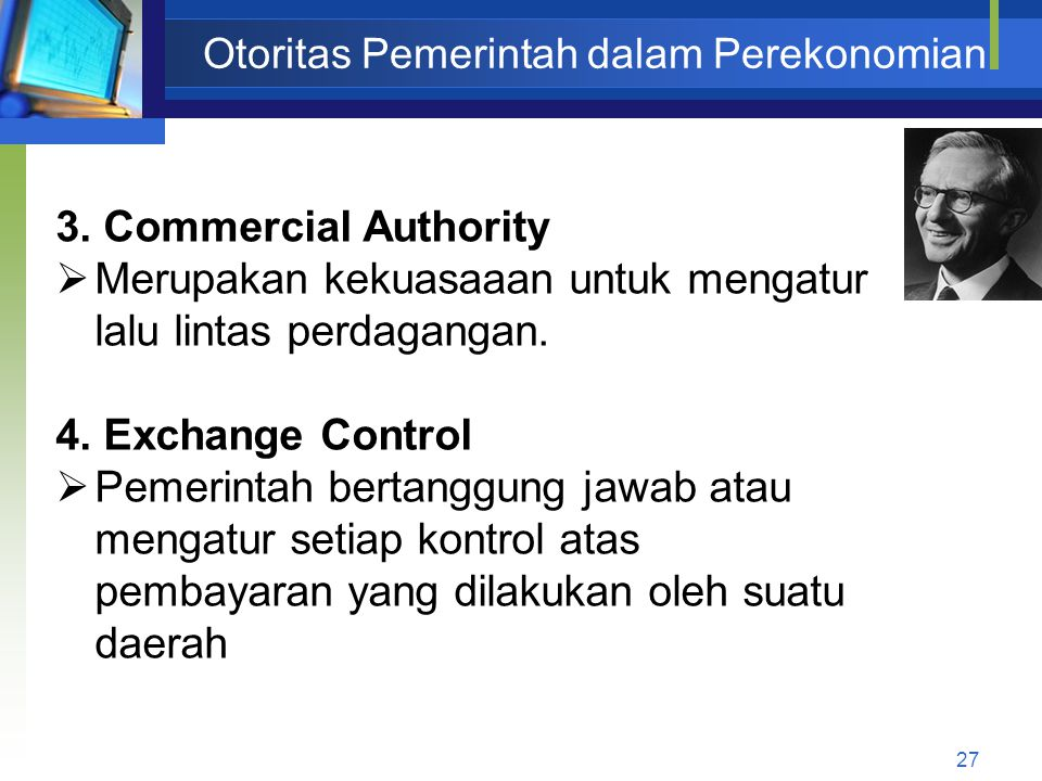 Otoritas Pemerintah dalam Perekonomian