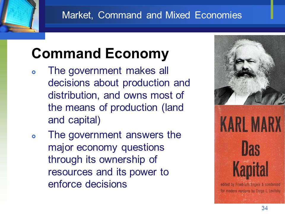 Market, Command and Mixed Economies