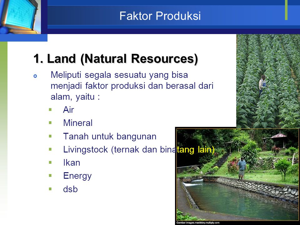 1. Land (Natural Resources)
