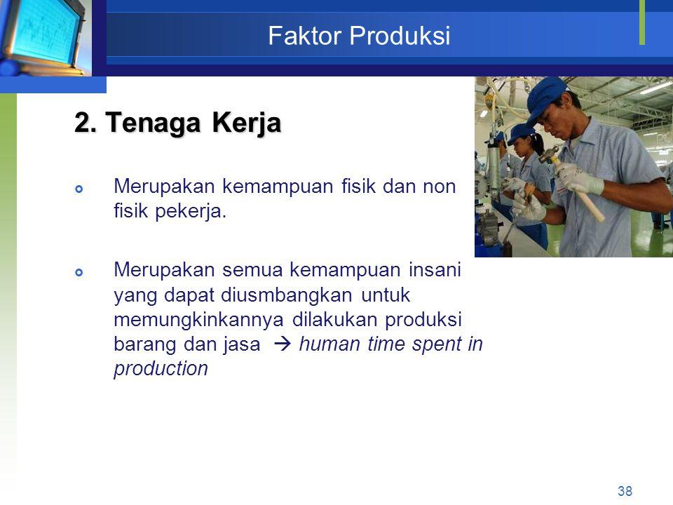 2. Tenaga Kerja Faktor Produksi