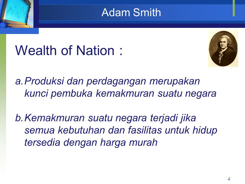 Wealth of Nation : Adam Smith