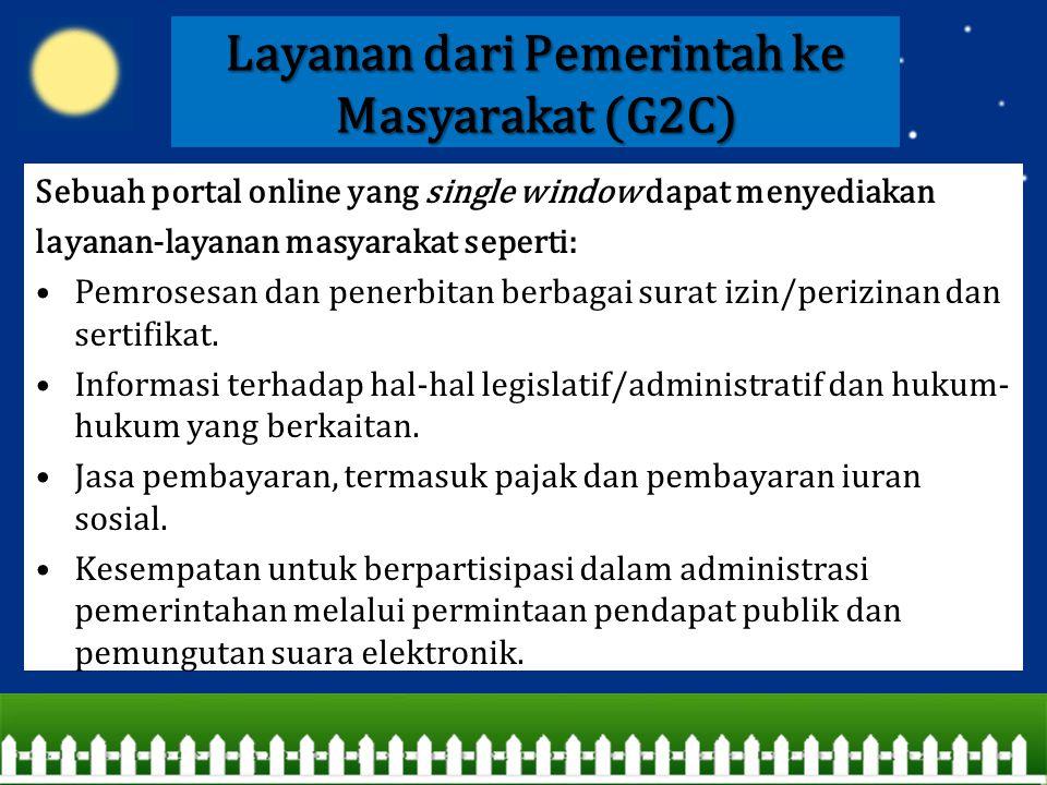 Layanan dari Pemerintah ke Masyarakat (G2C)