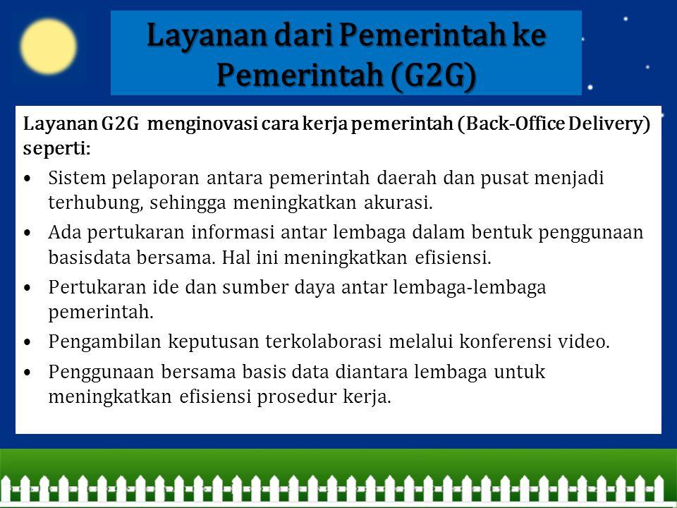 Layanan dari Pemerintah ke Pemerintah (G2G)