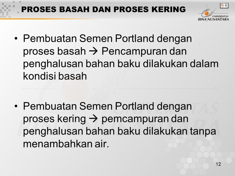 PROSES BASAH DAN PROSES KERING