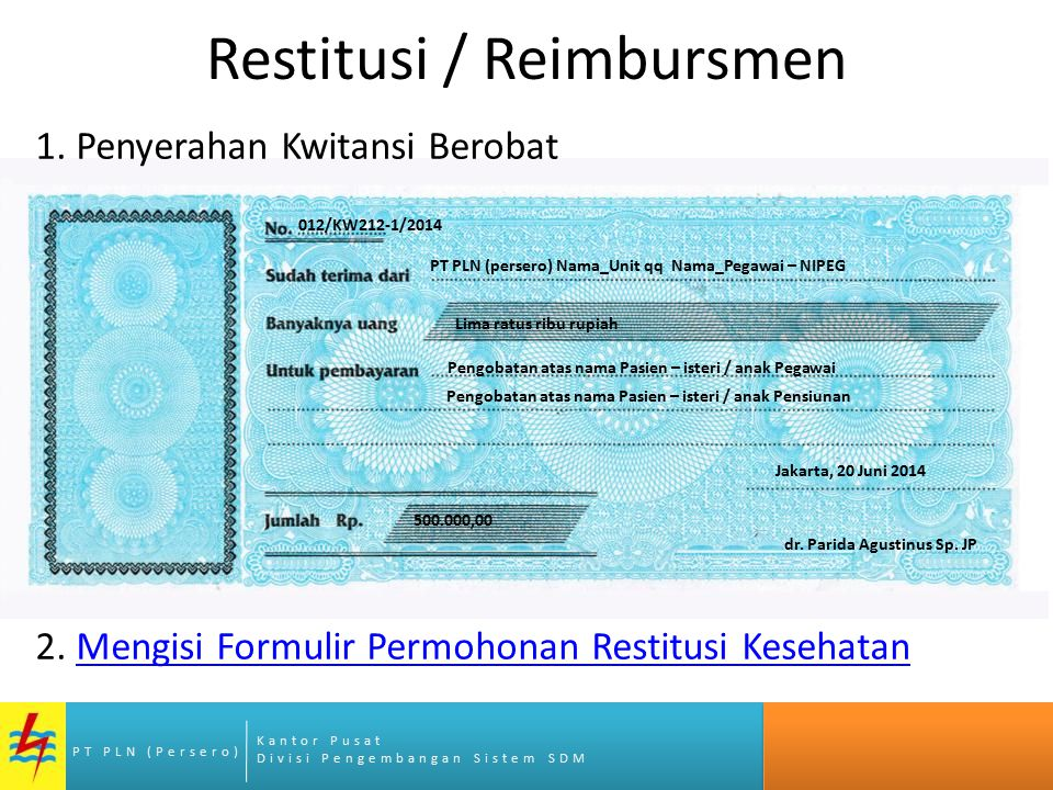 Restitusi / Reimbursmen