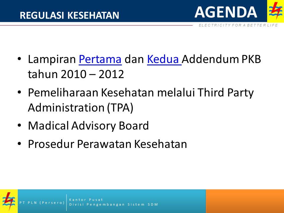 AGENDA Lampiran Pertama dan Kedua Addendum PKB tahun 2010 – 2012