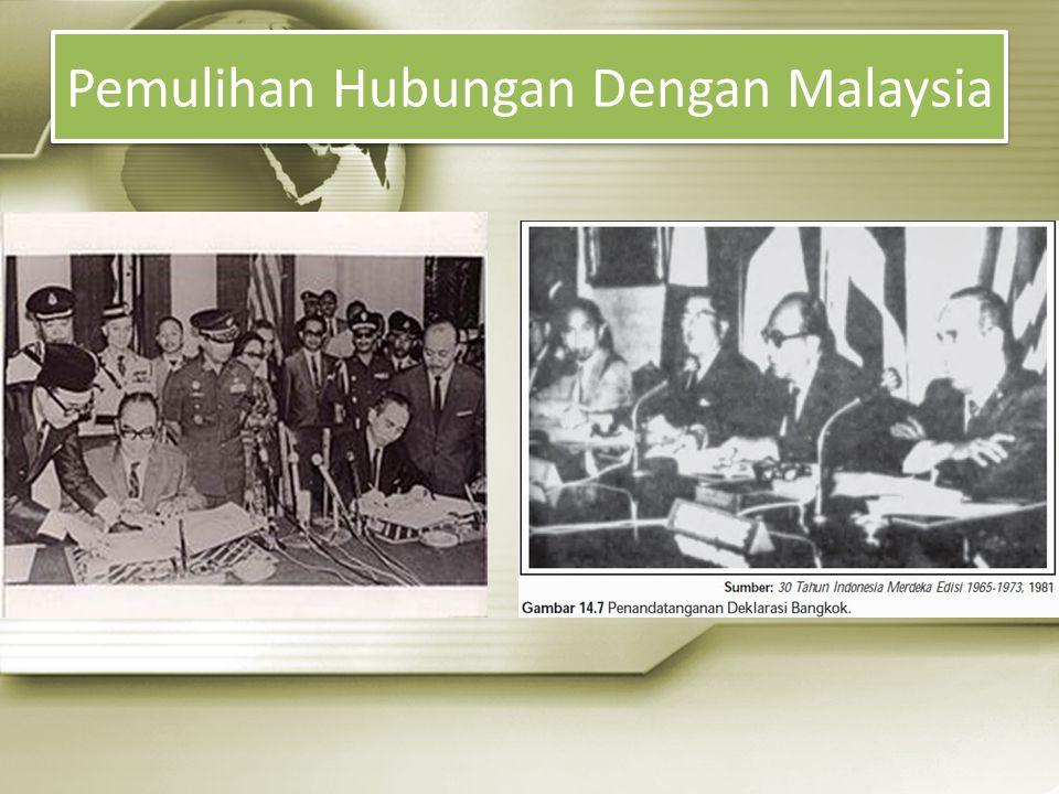 Pemulihan Hubungan Dengan Malaysia