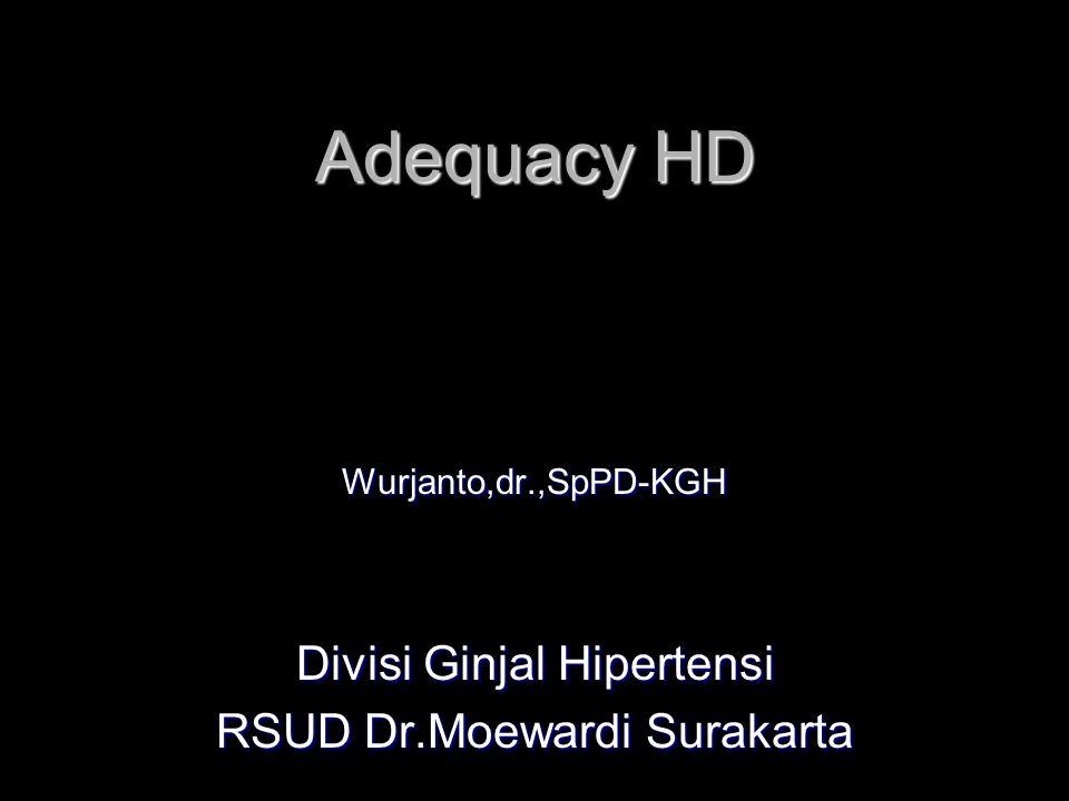 Adequacy HD Divisi Ginjal Hipertensi RSUD Dr.Moewardi Surakarta