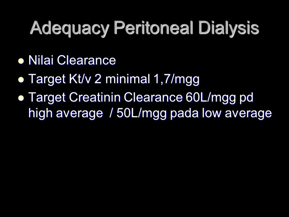 Adequacy Peritoneal Dialysis