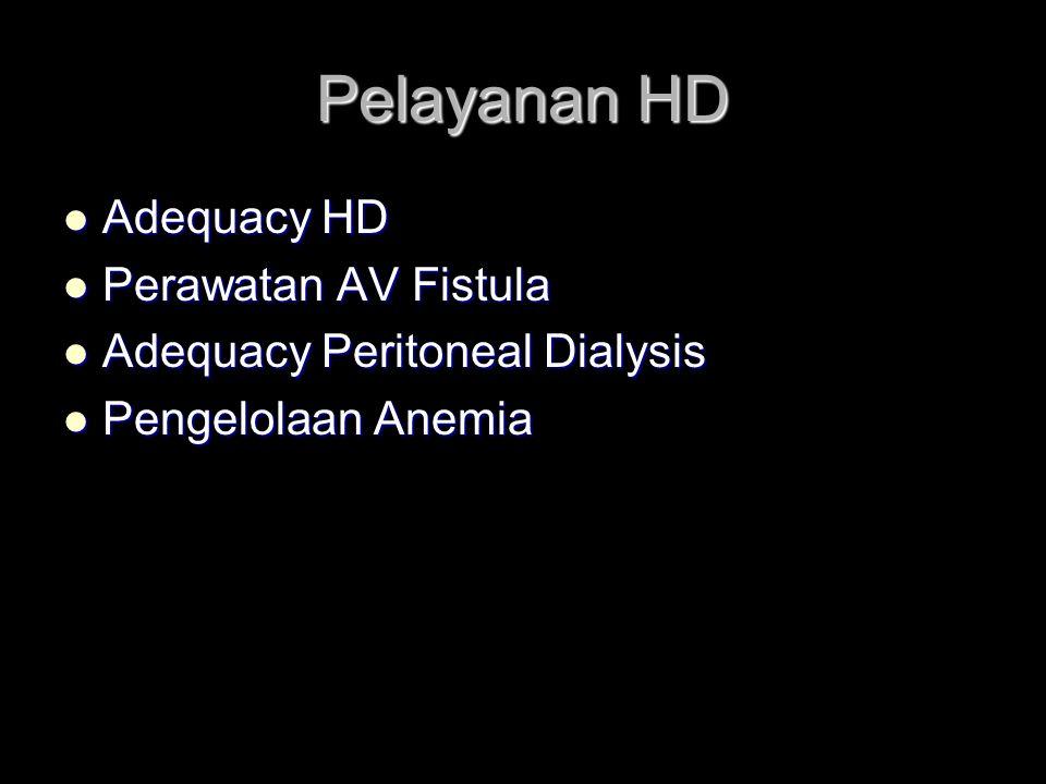 Pelayanan HD Adequacy HD Perawatan AV Fistula