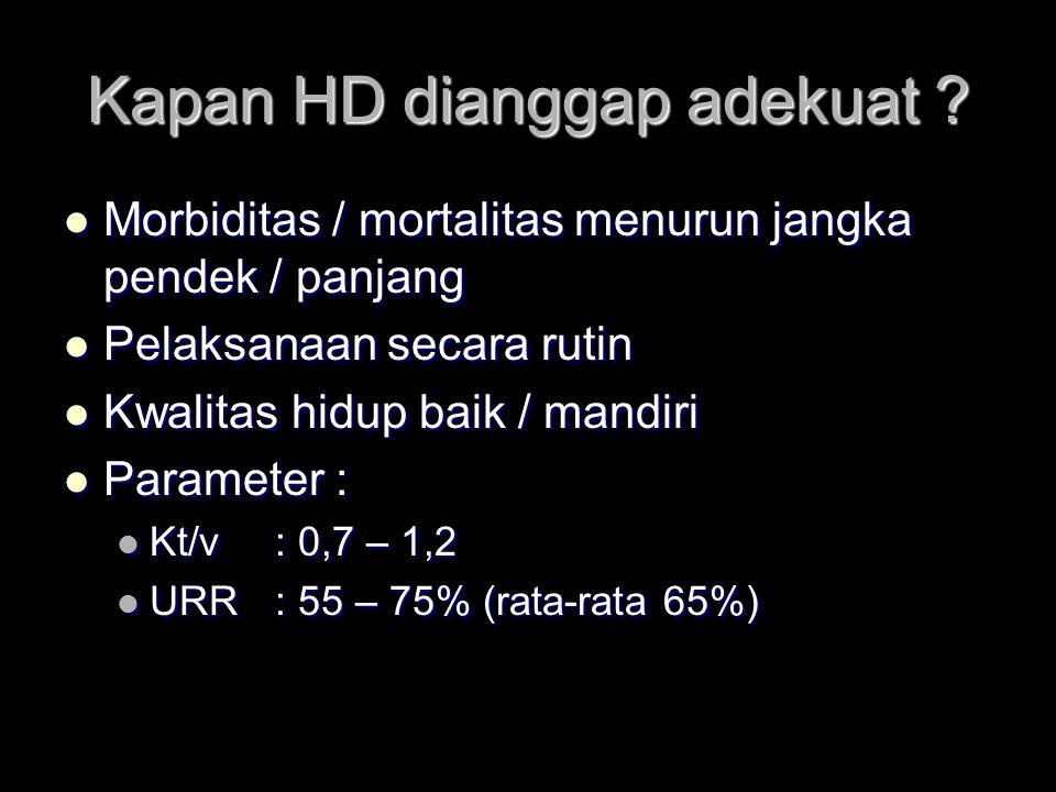 Kapan HD dianggap adekuat