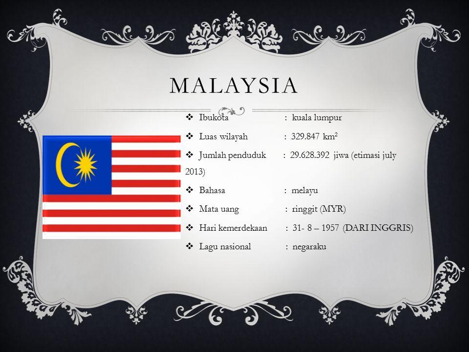malaysia Ibukota : kuala lumpur Luas wilayah : 329.847 km2