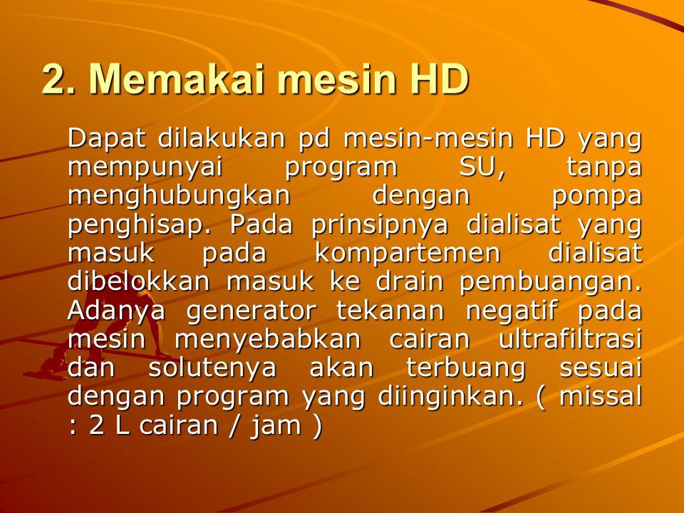2. Memakai mesin HD