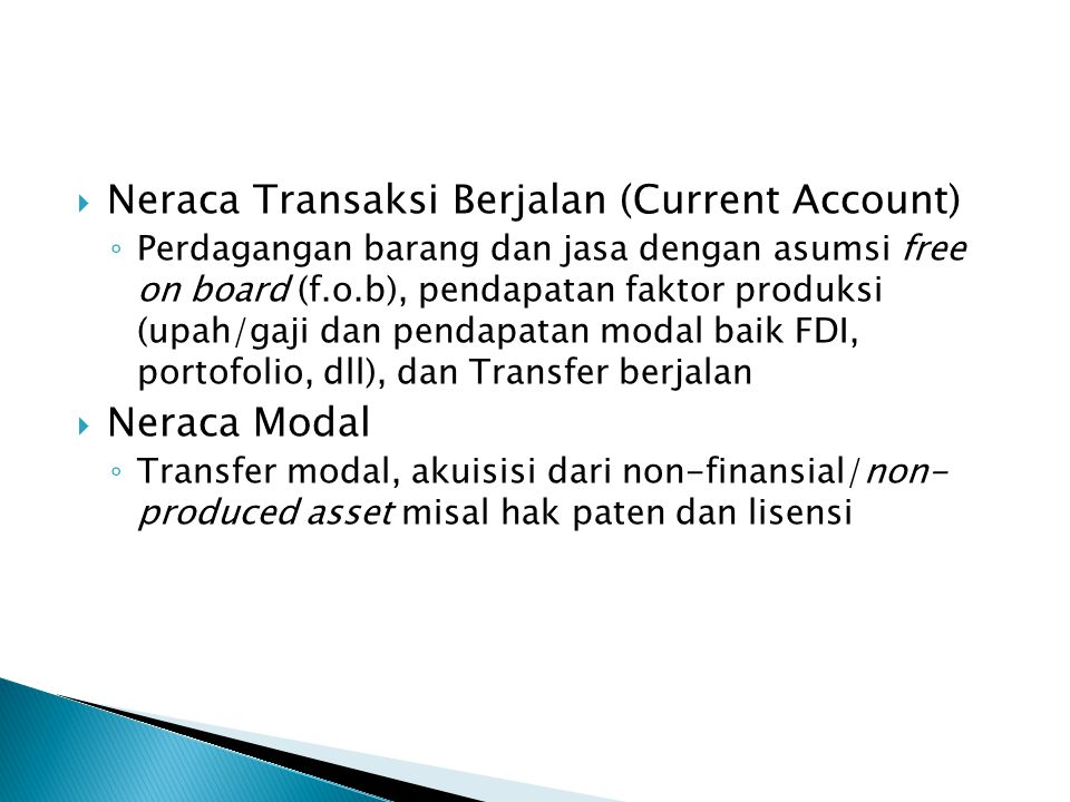 Neraca Transaksi Berjalan (Current Account)