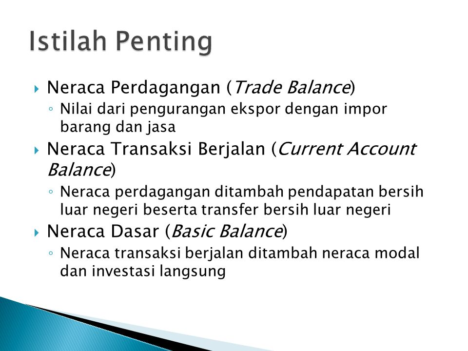 Istilah Penting Neraca Perdagangan (Trade Balance)