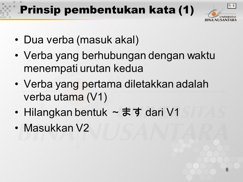 Prinsip pembentukan kata (1)