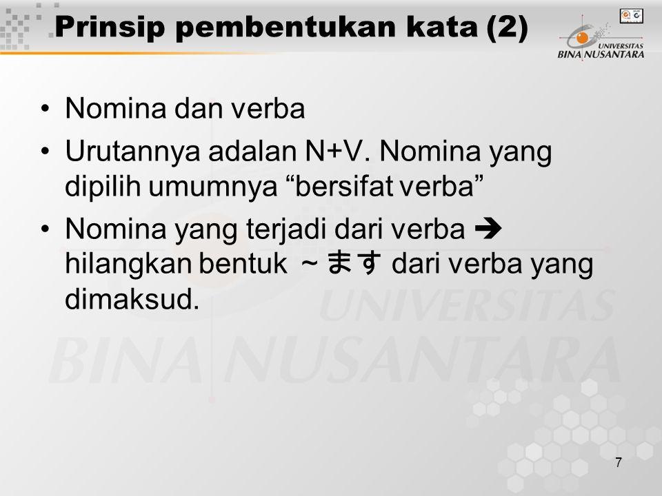 Prinsip pembentukan kata (2)