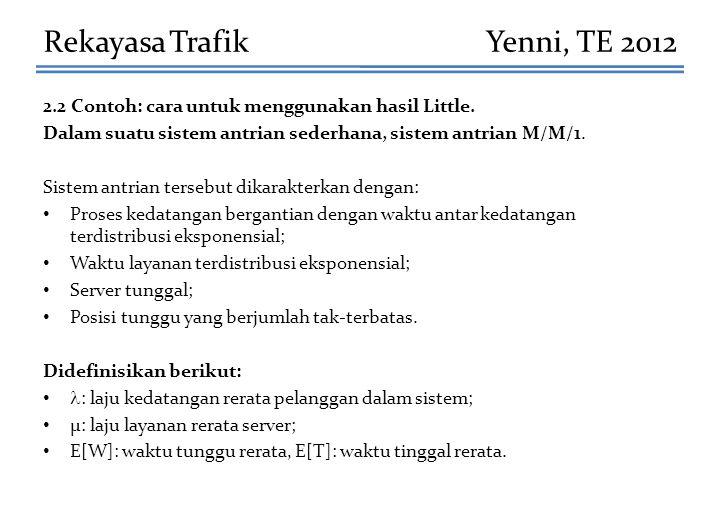 Rekayasa Trafik Yenni, TE 2012