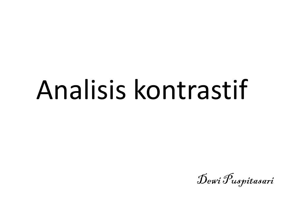 Analisis kontrastif Dewi Puspitasari