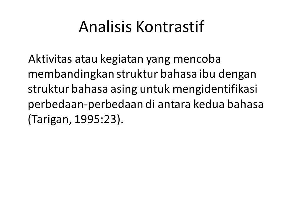 Analisis Kontrastif