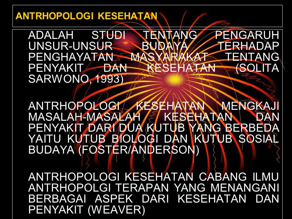 ANTRHOPOLOGI KESEHATAN