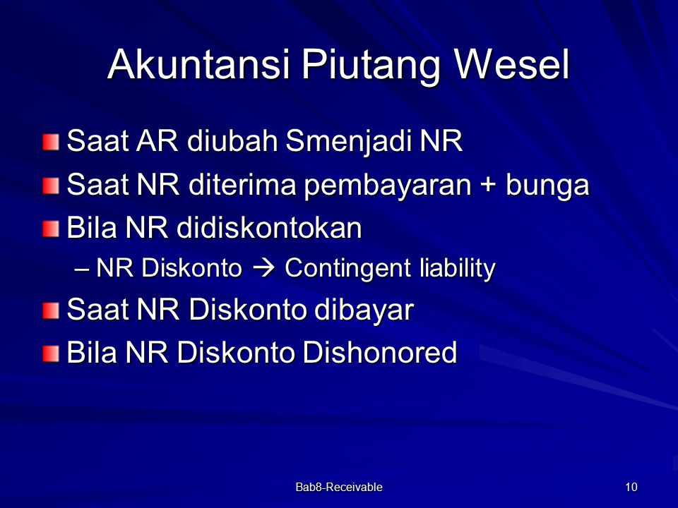 Akuntansi Piutang Wesel