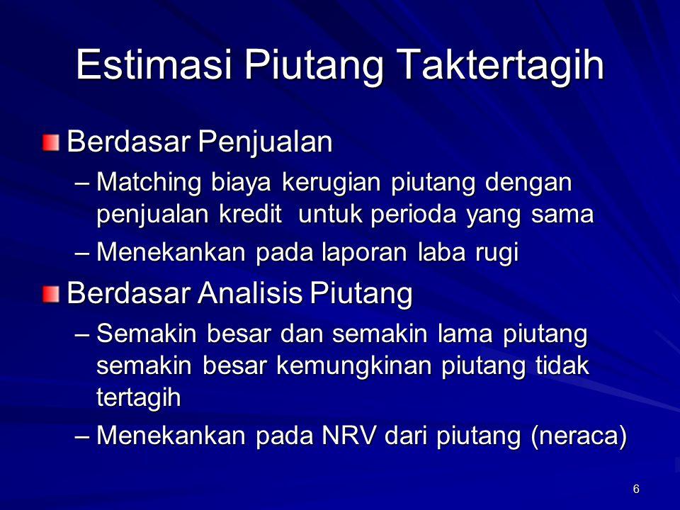 Estimasi Piutang Taktertagih
