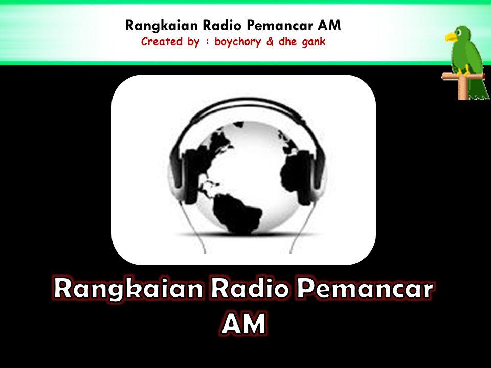 Rangkaian Radio Pemancar AM