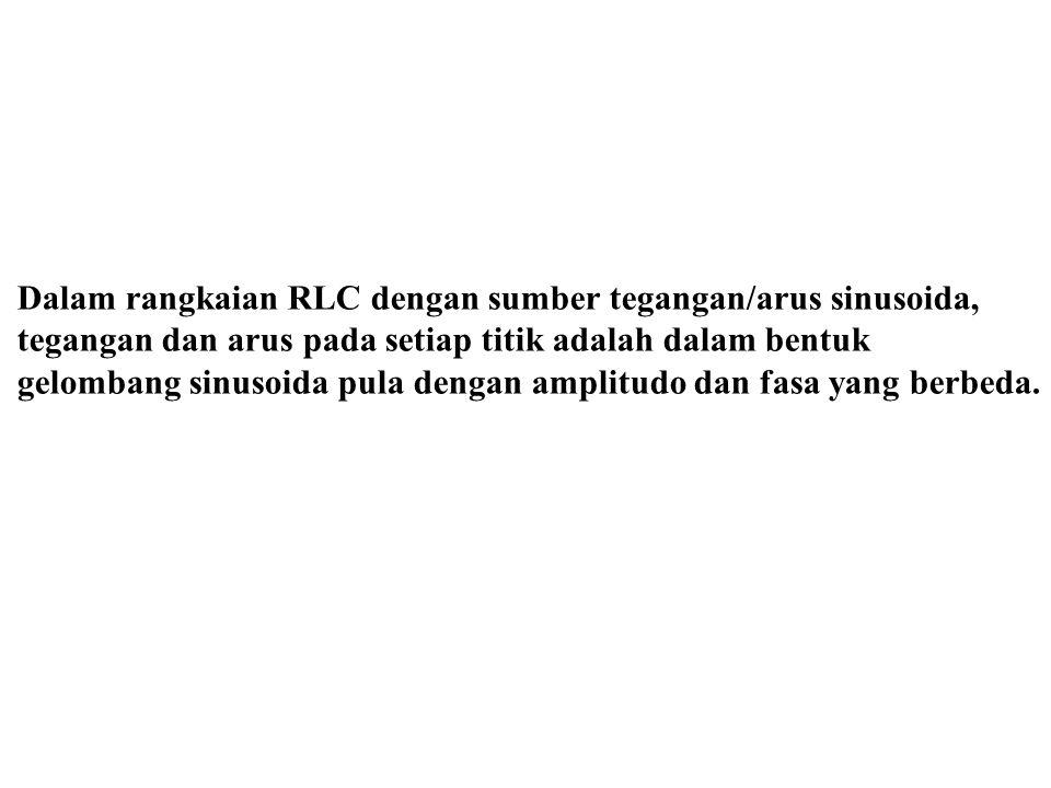Dalam rangkaian RLC dengan sumber tegangan/arus sinusoida,