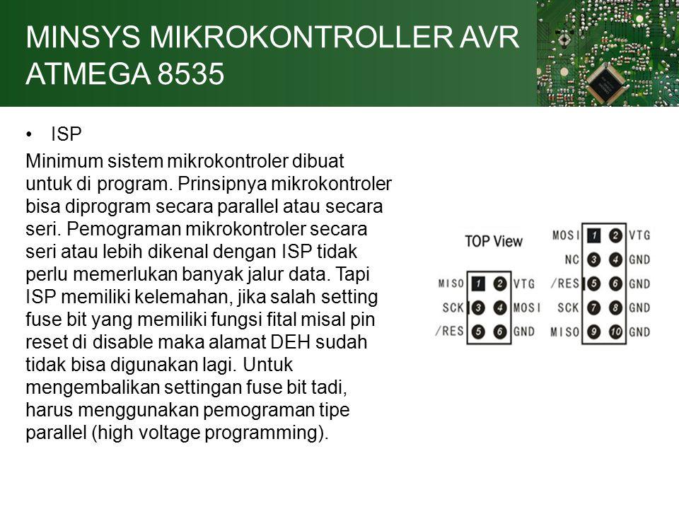 MINSYS MIKROKONTROLLER AVR ATMEGA 8535