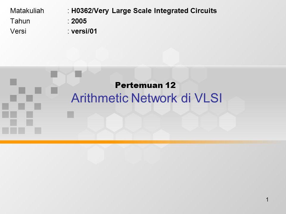 Pertemuan 12 Arithmetic Network di VLSI