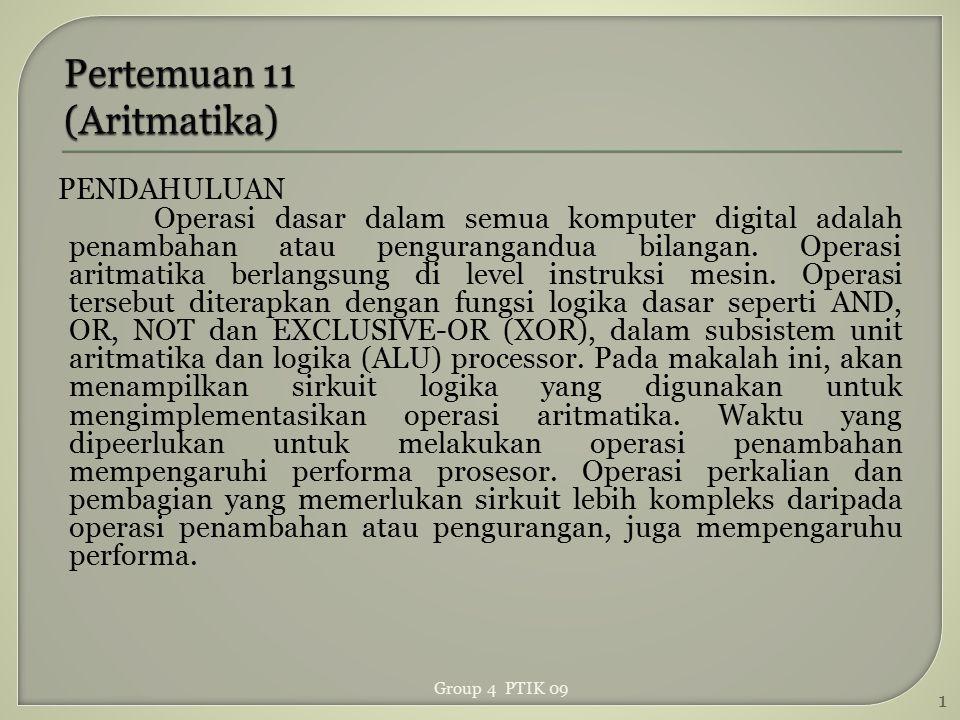 Pertemuan 11 (Aritmatika)