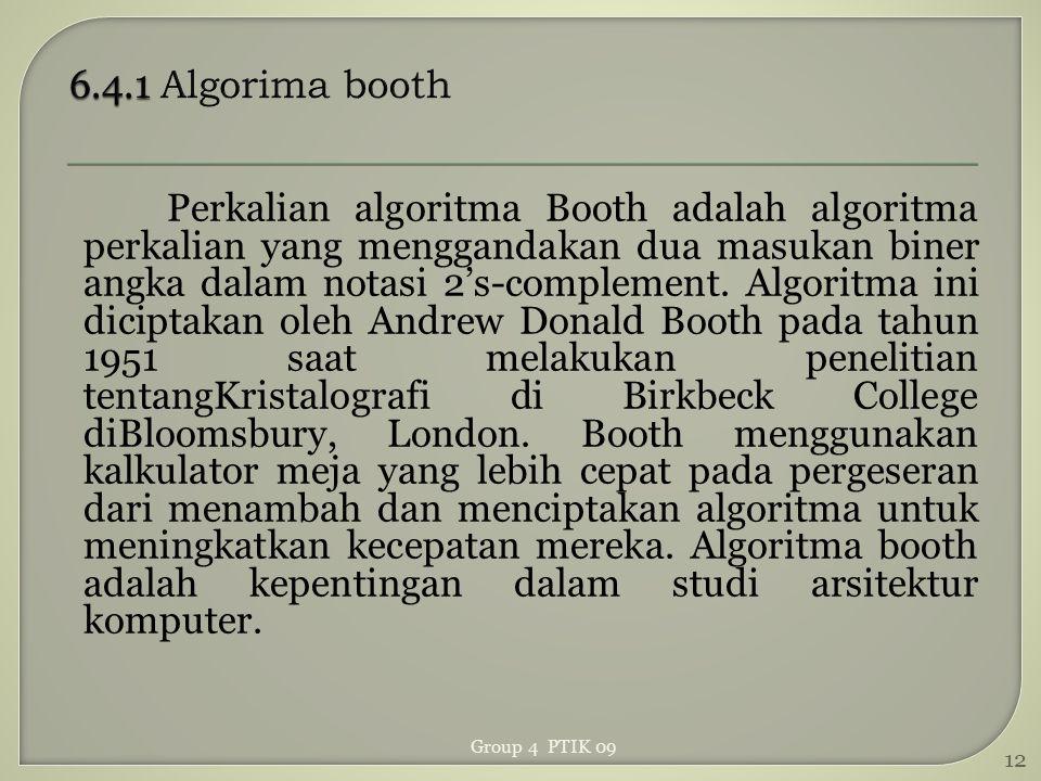 6.4.1 Algorima booth
