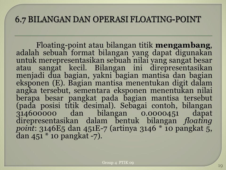 6.7 BILANGAN DAN OPERASI FLOATING-POINT