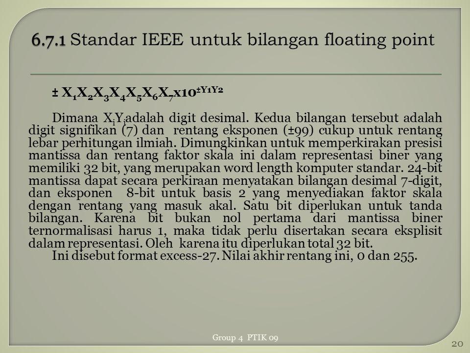 6.7.1 Standar IEEE untuk bilangan floating point