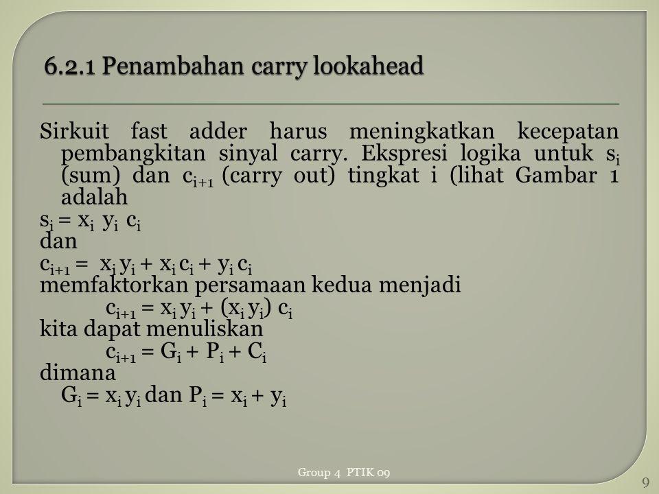 6.2.1 Penambahan carry lookahead
