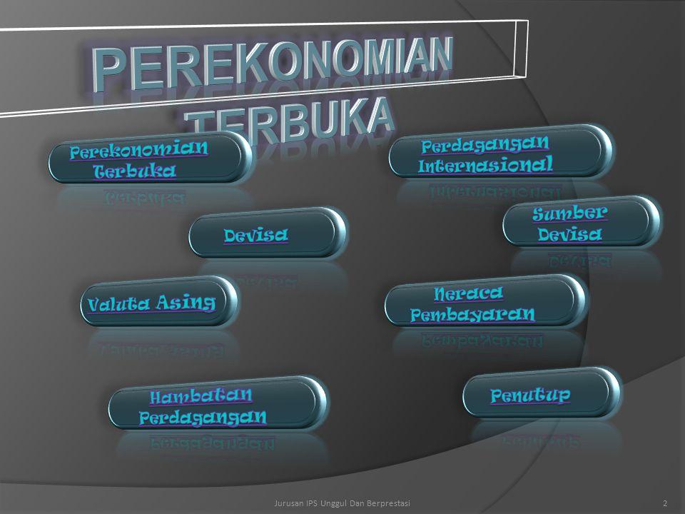 PEREKONOMIAN TERBUKA Perdagangan Internasional Perekonomian Terbuka